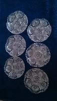 Bohemia kristály tányérok, régi
