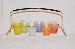 Retro pohár készlet tartójával  ( DBZ 00104 )
