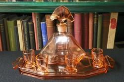 Art deco likőrös üveg