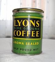 Régi 2 db angol pléh kávés doboz