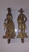 Falra szerelhető,figurális vállfatartó pár