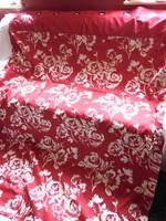 VÉGKIÁRUSÍTÁS !!! Álomszép piros alapon vajszín rózsás sötétítő függöny párban