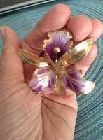 Antik Orchidea Zomancozott Bross