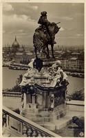Budapest. Látkép Jenő herceg szobrával.