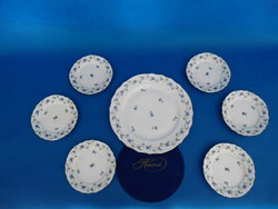 Herendi Bleuets en guirlande Rokály mintás 6sz sütis  garnitúra