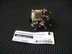 Luxus és különleges DYRBERG/KERN női gyűrű drágakövekkel