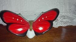 Fehér kerámia pillangó figura