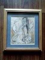 Szántó Dezső - Palya Bea festmény