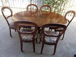 Biedermeier garnitúra 6 székes
