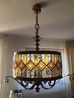 Egyedi kézimunka! Nagy méretű, luxus csillár, függesztett lámpa! 1 db van belőle a világon!