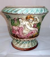 Capodimonte nagyméretű porcelán kaspó