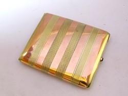 R!Francia arany/ezüst Art Deco cigarettatárca.