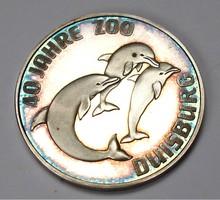 Duisburg Zoo színezüst emlékérme