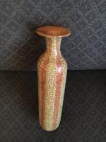 Gorka Géza nagy narancs, hálósan repesztett váza