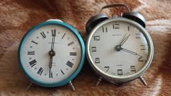 Régi orosz Jantar asztali ébresztő óra, vekker