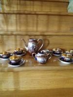 Zsolnay jelenetes kávés készlet régi