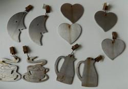 Vintage rozsdamentes acél terítő nehezék készlet 10db