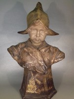 Goldscheider - Dutch Girl - Holland lány - antik kerámia büszt