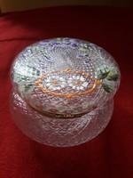 Kézzel festett üveg bonbonier