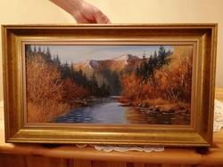 Ismeretlen festő Ősz a havason c. festménye