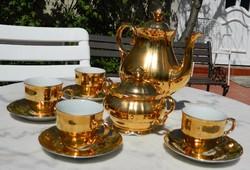 Antik aranybevonatú Epiag kávés - készlet