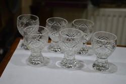 6 darab kristály likőrös pohár