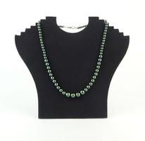 0Q562 Régi zöld bizsu gyöngysor nyaklánc