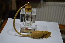 Hámozott kristály parfümös üveg