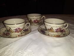 Zsolnay  pillangós kávés  csészék