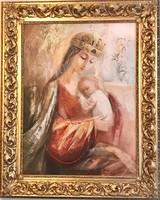 Szűz Mária a Magyarok Királynője - olajfestmény