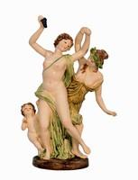 Tivornyázó csoport - Monumentális  porcelán figura