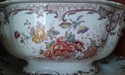 Antik fajansz sarreguemines fleury leveses tál