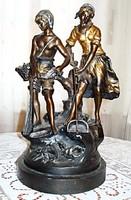 Rákhalászok - A.Moreau francia szobrász alkotása
