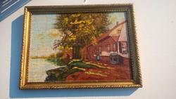 Szép Váczi János festmény olcsón eladó.