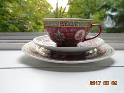 JINGDEZHEN-Famille Rose-dombor zománc mintás reggeliző(4)
