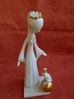Aquincumi porcelán figura királylány békával