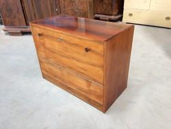 Retro régi komód magasfényű mid century kis szekrény