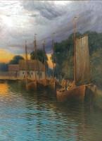 Kende István (1865- ? ): Halász bárkák 1903.