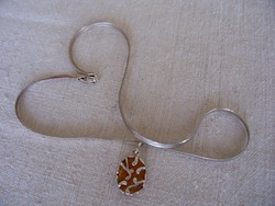 Ezüst nyaklánc medállal, olasz, 925-ös finomság,10 gramm