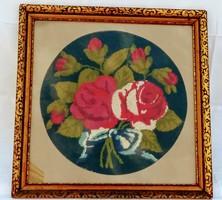Rózsa csokor antik gobelin