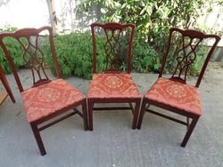 Chippendale stílusú szék , 3 db