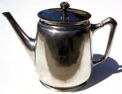 Antik jelzett ezüst 800-as teás kiöntő hibátlan gyönyörű konyhai kellék 720 g 200 Ft/g