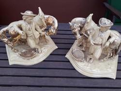 2 db 1885 Körüli Eichwald Lovas Porcelán