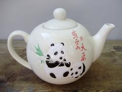Extrém ritka kínai pandás teáskanna