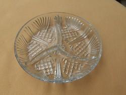 Retro osztott üveg kínáló 19 cm (20/d)