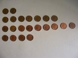 22 db különböző évjáratú angol 1 penny 1971-2008