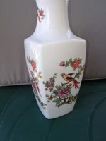 Hollóházi paradicsommadaras váza 24,5 cm es porcelán