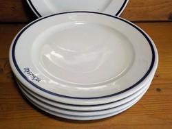 6 darab régi Alföldi desszertes tányér kék szegéllyel