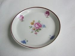 Régi Hollóházi porcelán rózsás gyűrűtartó tálka