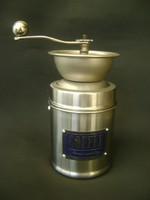 Régi krómozott acél  kávédaráló mely nem használt nagy méretű,